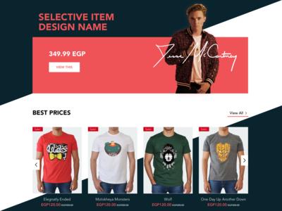 NAS trends colors illustration clothes egypt sale sections baner list ecommerce ui deisgn ui  ux design graphic design photoshop