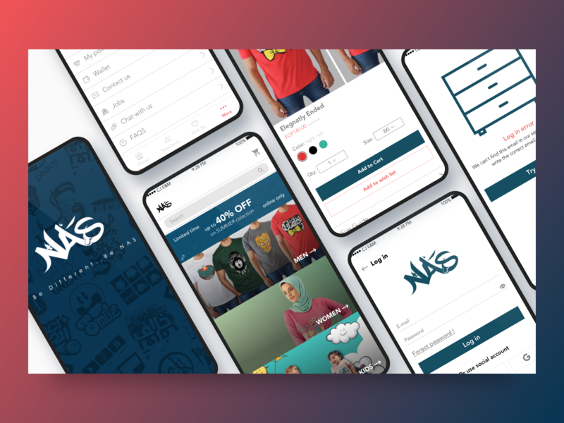 Nas Trends app interface illustrator photoshop sketch clothes fashion ecommerce uidesign uiux app mobile