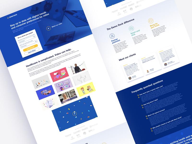 Demo Duck 🦆 | Landing Page landing page
