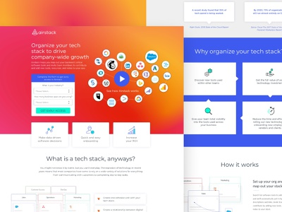 Airstack | Landing Page saas web typography vector branding ui design landing page