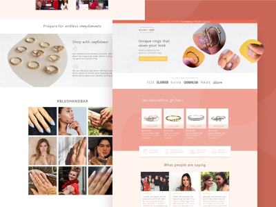 Blush & Bar | Landing Page ecommerce website ui branding ux web typography design landing page