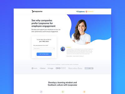 Leapsome | Landing Page hero image desktop design ui ux saas landing page