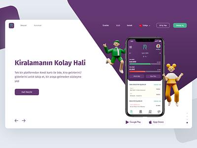Header: RezyPay landing app website interface illustration ux ui design
