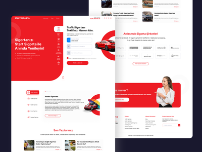 Start Sigorta uidesign webdeisgn insurance flat interface ux ui design