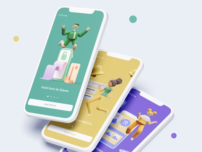 Onboarding: RezyPay character website interface cards onboard onboarding illustration app ux ui design