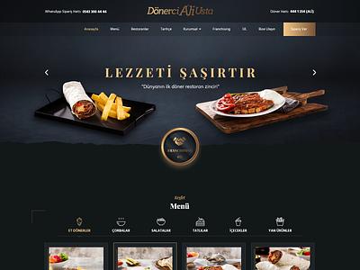 Landing Page: Dönerci Ali Usta dailyui homepage header animation landing website interface ui ux design