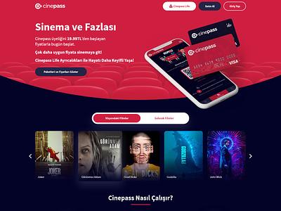Cinepass figma dailyui landing page cinema homepage landing website interface ux ui design