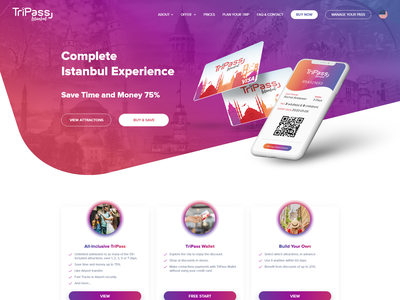 Tripass figma header homepage dailyui landing website interface ux ui design