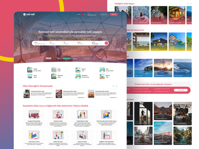 Landing Page: Tatiloley agency travel landing page figma illustration landing website interface ux ui design