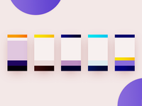 Mobile UI Palette Swatches