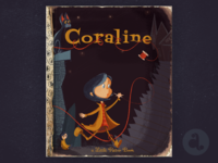 Coraline Little Golden Book Cover