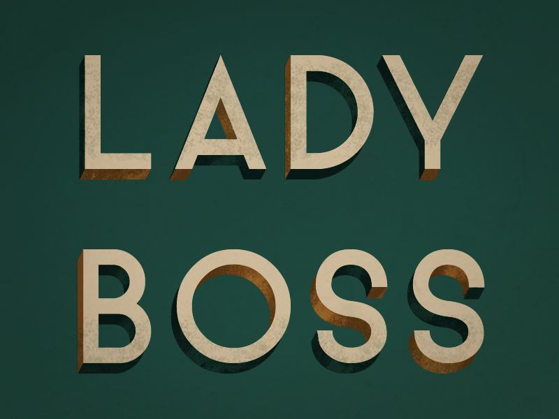 Lady Boss retro texture lettering illustration typography
