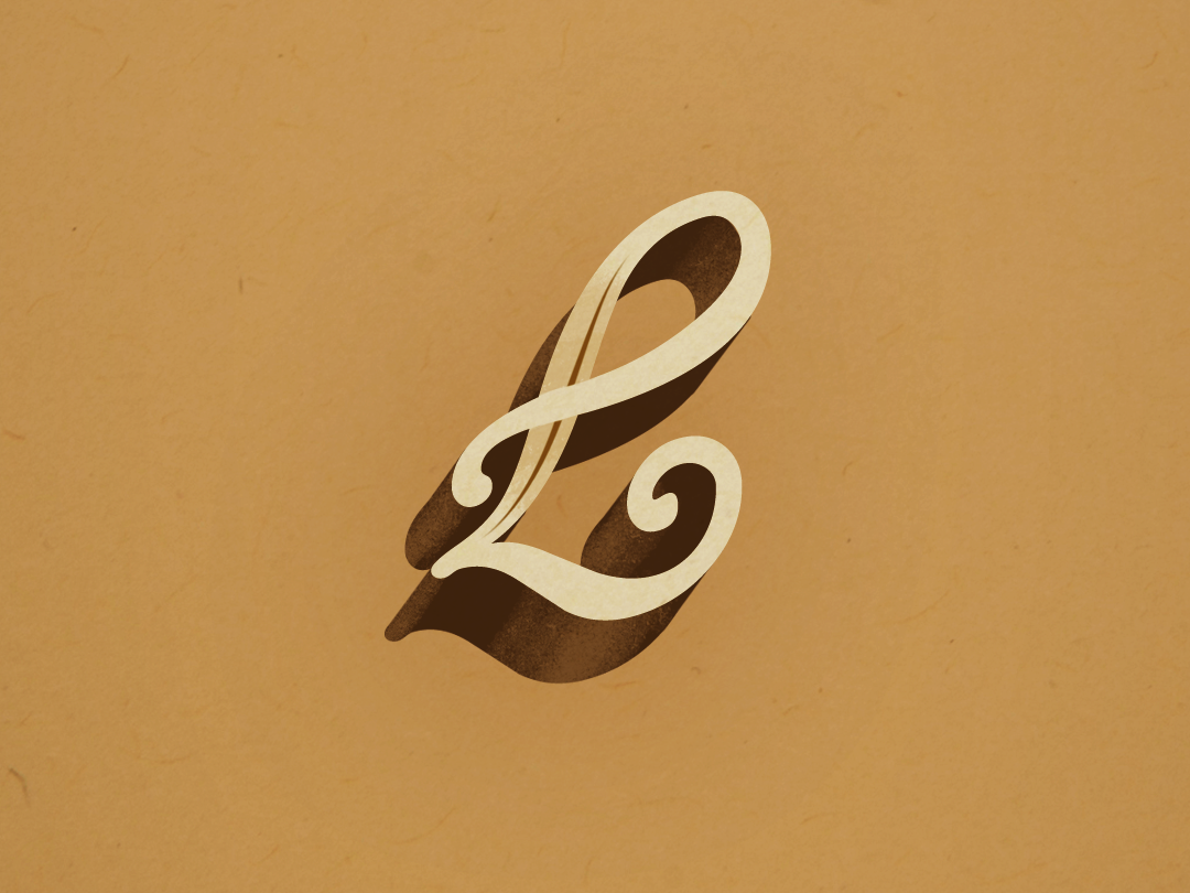 L-Lustration type lettering letter l
