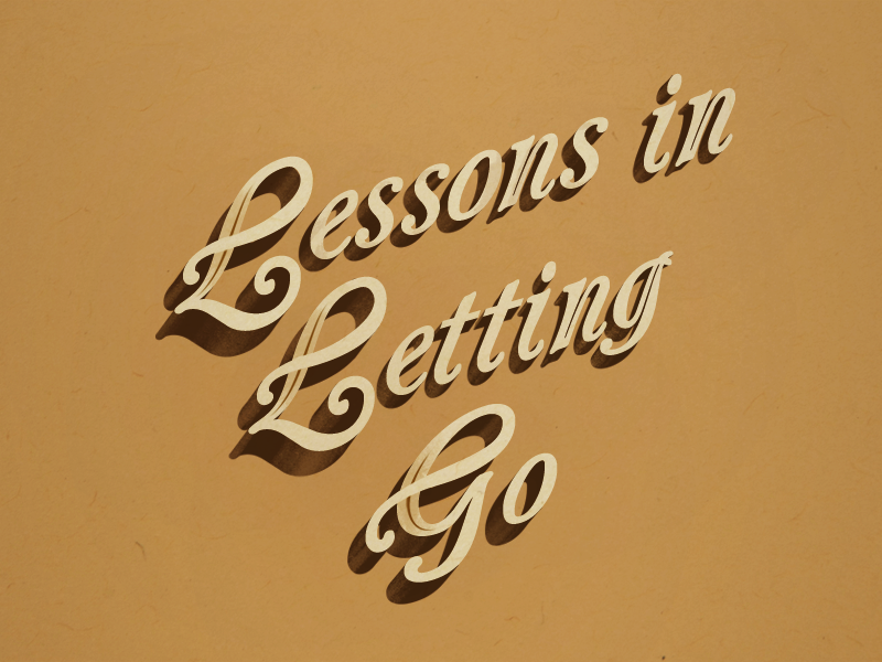 Lessons in Letting Go type illustration typography type book cover design book cover