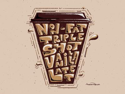 Coffee Coaster | Non-Fat Triple Shot Vanilla Latte