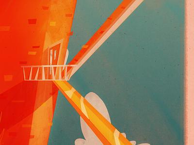 36 Days of Type | K typography 36 days beachhouse beach retro illustration 36days-k