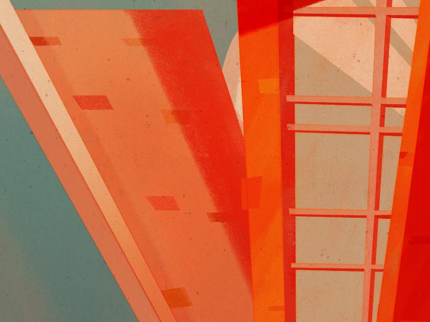 36 Days of Type | V architecture beach retrosupply retro illustration 36days-v 36daysoftype