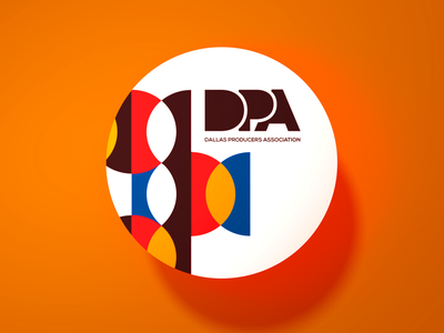DPA Sticker : Circles retro branding print design sticker