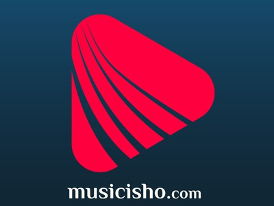 Musicisho logodesign icon branding flat minimal illustration logo design