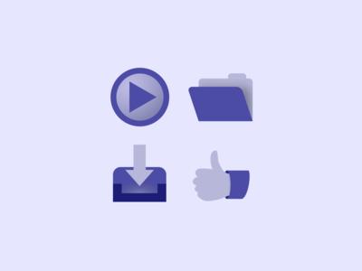 Product Website Prototype Icons