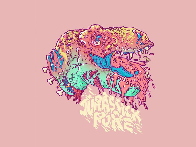 SickPuke lowbrow pop color grody illustration