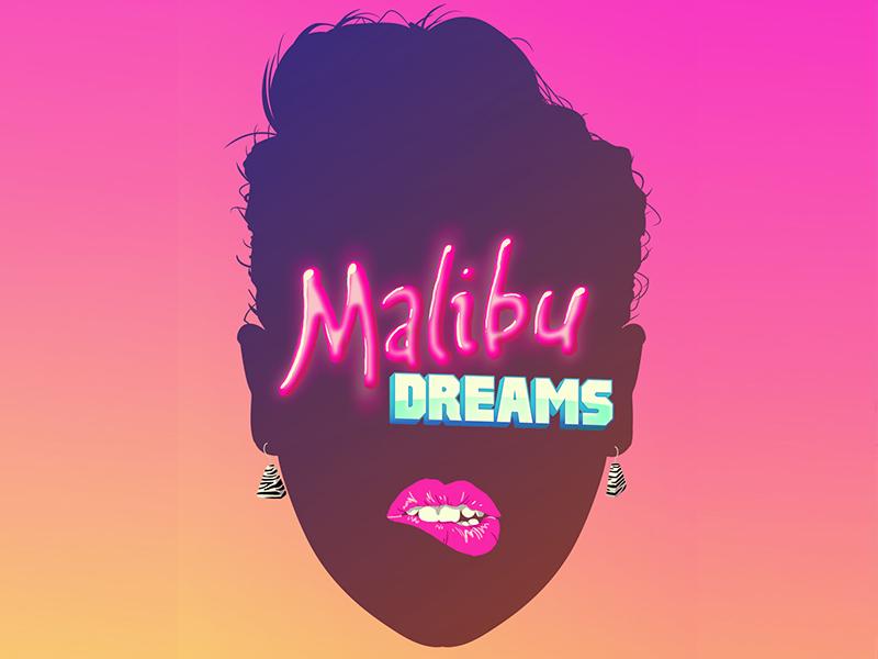 Dreams malibu 80s lips earrings silhouette headshot warm