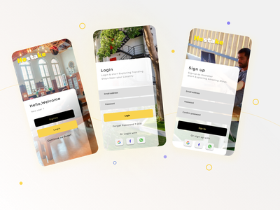 Hostake | Sign Up register sign in sign up simple graphic ux ui