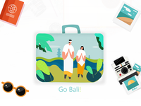 Bali Scene Illustration