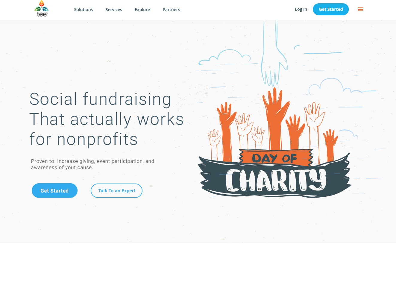 Charity organisation simple illustration clean graphic design