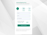 Simple Shipping Estimate Form