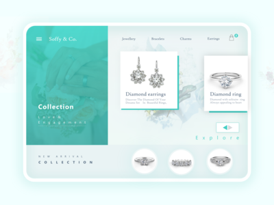 jewellery  store landing page