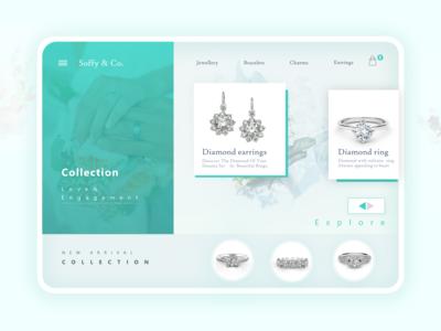 Modern jewellery  store landing page