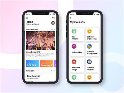 Online University Mobile App online education app courses uiux mobile app ui lms app online learning app online learning portal education app university app