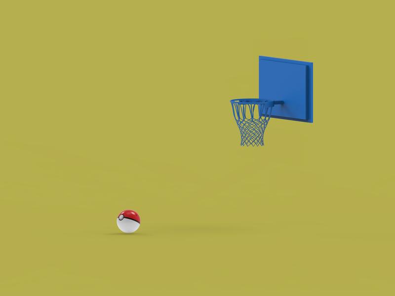 Goal game design 3d animation creative illustration 3d art