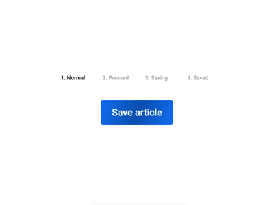 Save button animation [link to prototype in description] ux animation prototype protopie button states feedback micro interaction save button saving