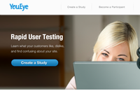 YouEye Site Homepage re-design, concept.2