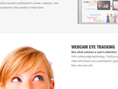 YouEye Site Homepage re-design, concept.3 ux design visual design art direction homepage concept canned