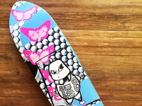 Shredsled 138 skateboard graphic design
