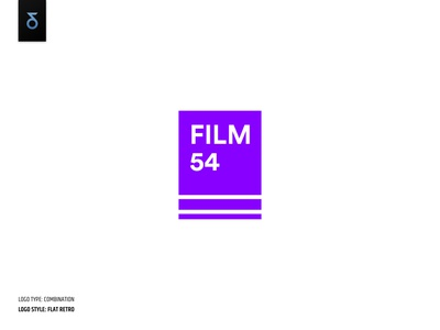 Film studio logo - flat retro