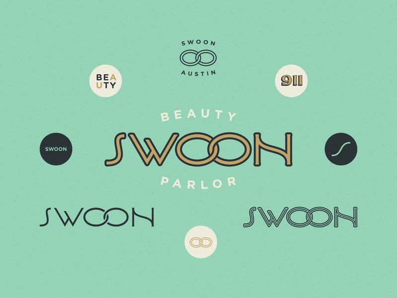 Swoon Salon branding type mark icon identity design badge brand logo illustration