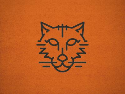 Orange Cat Face icon illustration