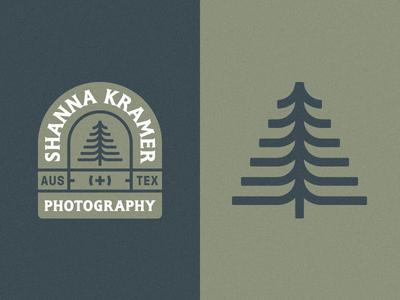 Shanna Kramer Photography mark illustration tree photographer brand shield badge logo