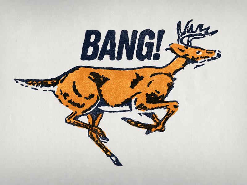 BANG! archive brand design deer illustration deer logo animal logo animals animal rough type deer branding design brand logo illustration