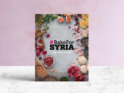 Bake for Syria Cookbook graphic design cookbook publishing print