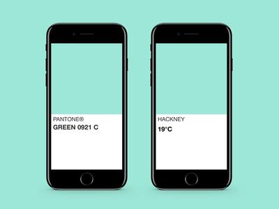 Weathertone weather iphone app graphic design ue ui