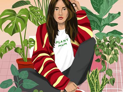 Plant Mum procreate illustrator nature illo drawing melbourne illustration plant illustration plants