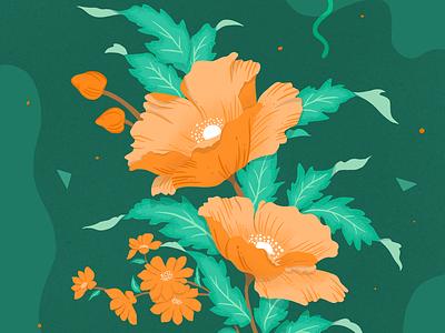 Flower Illustration floral illustration illustration art flower plants floral design illustration