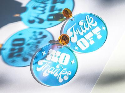 Lettering Earrings ecommerce jewellery jewelry typography lettering earrings