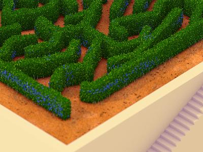 Maze maze hedge isometric 3d