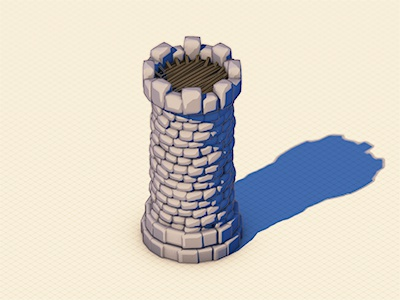 Tower 3d tower cell shading